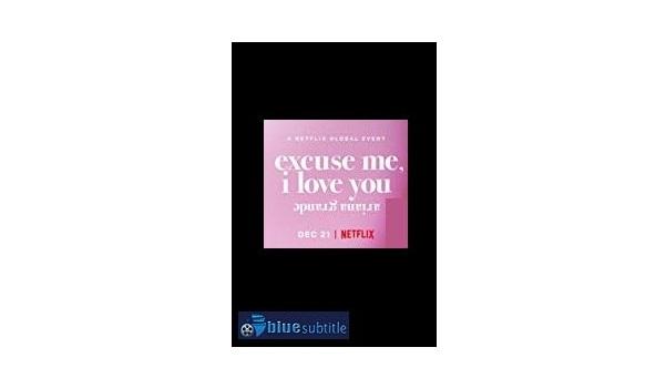 Free Download subtitle Ariana Grande: Excuse Me, I Love You 2020 All Language - blue subtitle